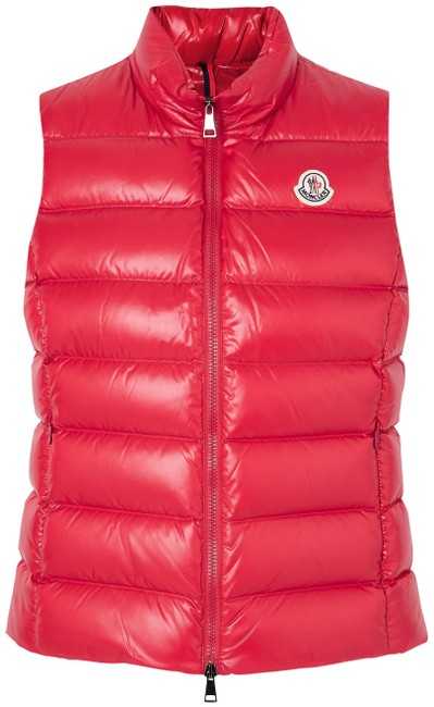 Item - Red Ghany Quilted Shell Down Gilet Vest Size 4 (S)