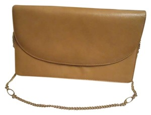 Saks Fifth Avenue Vintage Leather tan Clutch