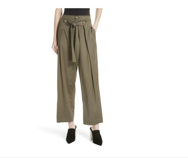 Item - Green Grey High Rise Twill Tie Front Pants Size 6 (S, 28)