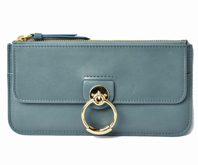 Item - Blue Chloé Multi Pouch Slim Zip Long Smartphone Case Tess Ladies Leather Ash Wallet