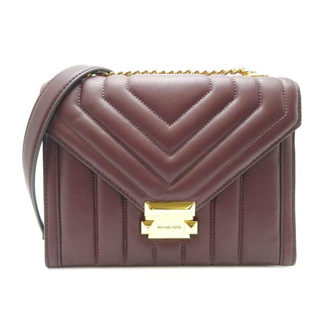 Item - Whitney Quilted Ladies 30f8gxil3t Lambskin Barolo Wine Quilting / Leather Shoulder Bag
