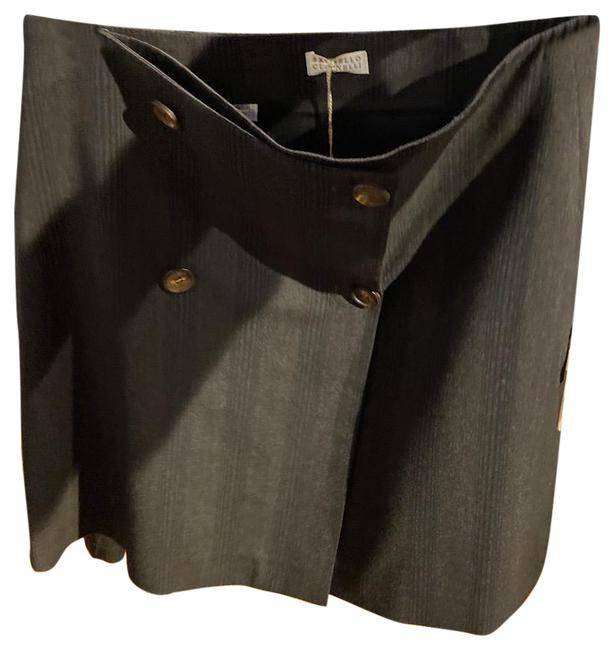Item - Brown Grey Wrap Straight With Skirt Size 4 (S, 27)