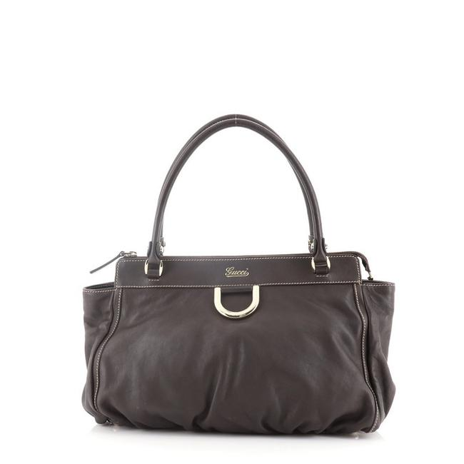Item - D-ring Medium Brown Leather Shoulder Bag