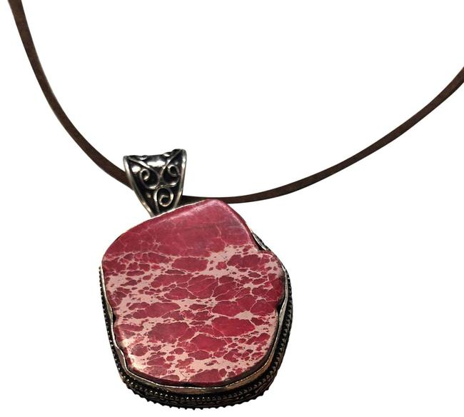 Item - Red Natural Stone Necklace