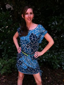 New York & Company short dress multi blues turquoise on Tradesy
