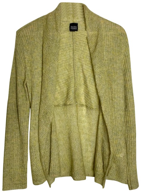 Item - Green Mohair Open Front Cardigan Size 6 (S)