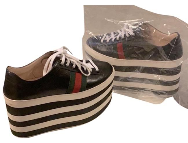 Item - Black and White Peggy Platform Sneakers Size EU 37 (Approx. US 7) Regular (M, B)