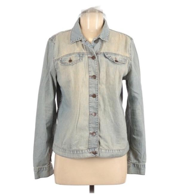 Item - Blue Faded Biker Jacket Size 8 (M)