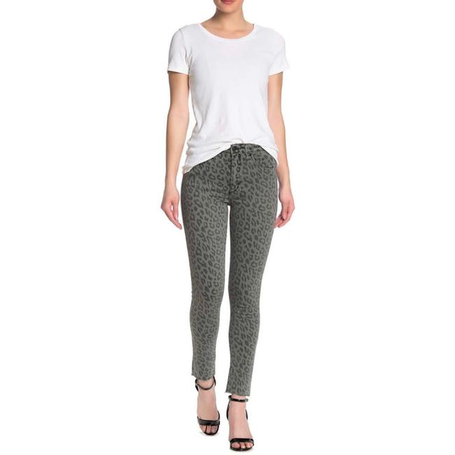 Item - Grey Leopard Women's Print High Rise Ankle Skinny Jeans Size 29 (6, M)