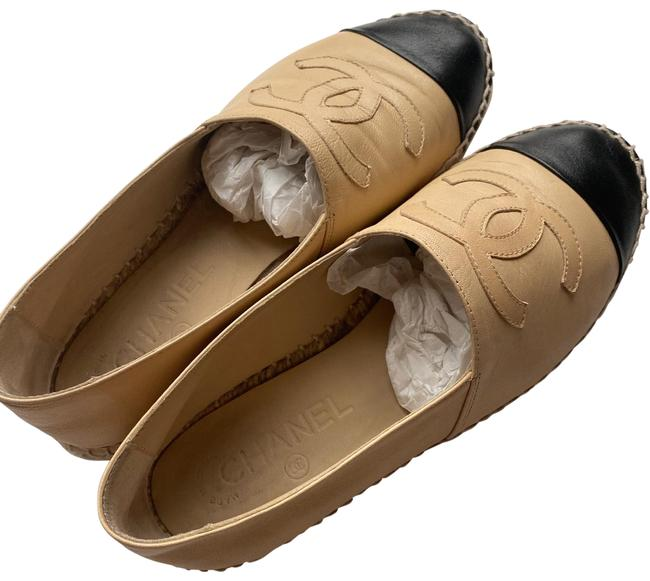 Item - Beige/Black Espadrilles Eu 36 (Approx. Flats Size US 6 Regular (M, B)