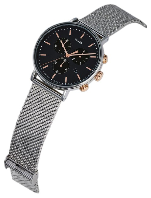 Item - Silver Mens Chronograph Quartz with Stainless Steel Strap Tw2t114 Watch