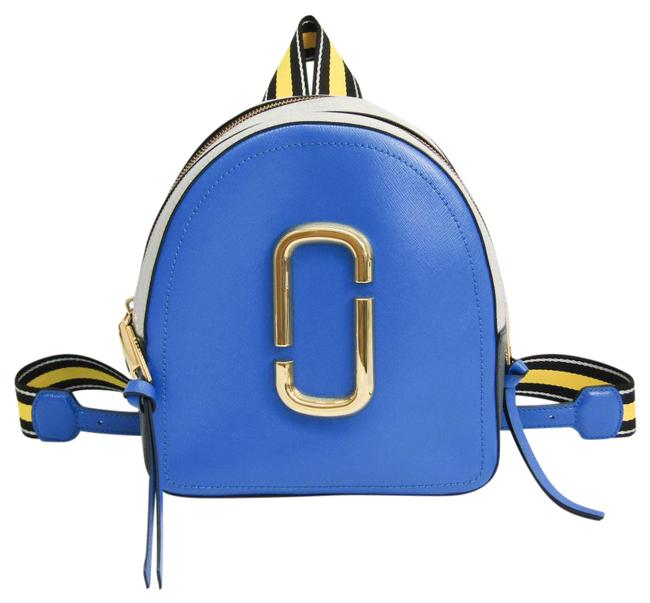 Item - Shot M0013992 Women's Black / Blue / Light Gray / White / Yellow Leather Backpack