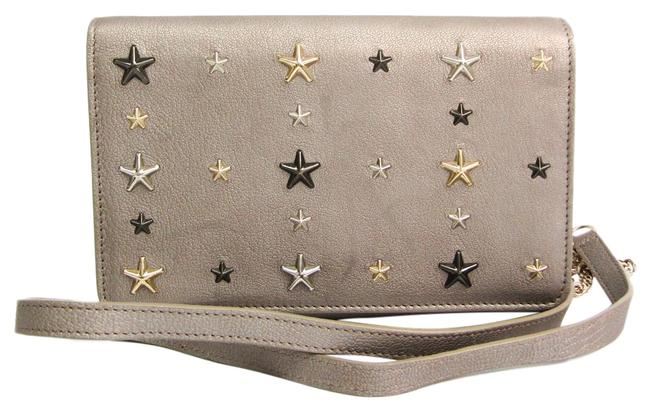 Item - Gray / Silver Women's Leather Studded Chain/Shoulder Wallet