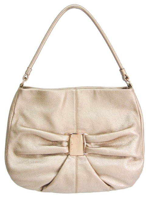 Item - Bag Au-21 C337 Women's Champagne Gold Leather Tote
