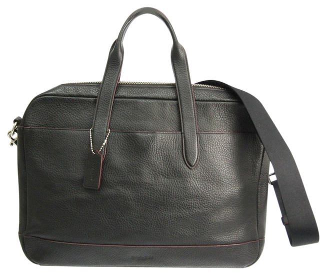 Item - Shoulder Hamilton In Pebble F11319 Men's Briefcase Black Leather Messenger Bag