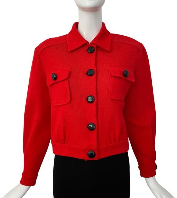 Item - Red Button Down Santana Jacket Size 6 (S)