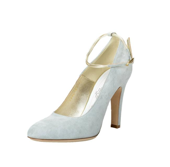 Item - Gray Women's Suede Leather Heeled Pumps Size US 7 Regular (M, B)