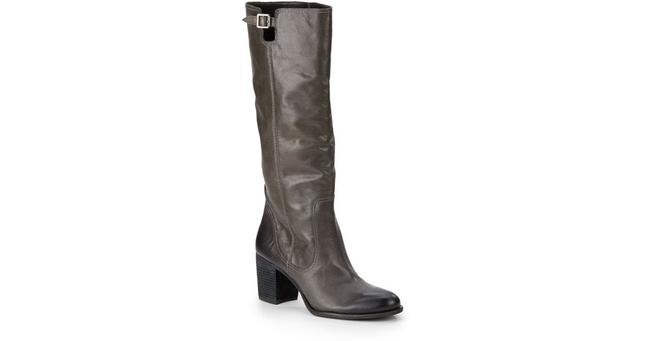 Item - Gray Gettila Tall Leather Boots/Booties Size US 7 Regular (M, B)