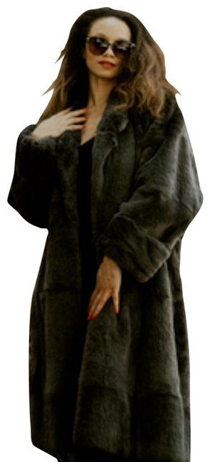 Item - Gray Sheared Beaver Belted Coat Size 16 (XL, Plus 0x)