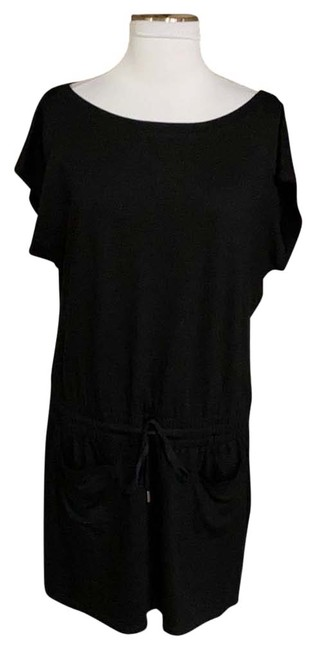 Item - Black Drawstring Waist Short Casual Dress Size 10 (M)