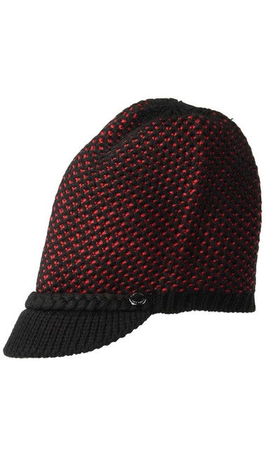 Item - Black/Red Knit Black/Red/Os/Nwt Hat