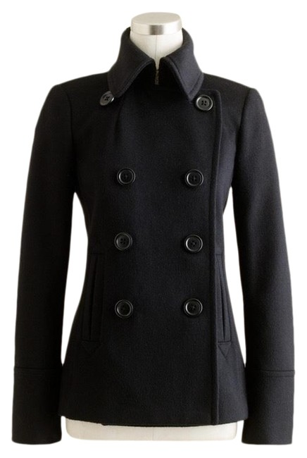Item - Black Double Breasted Peacoat Jacket Size 6 (S)