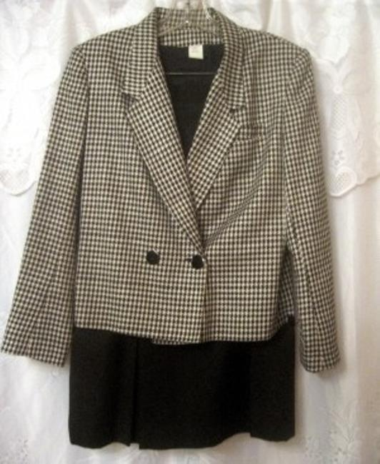 Michelle Stuart HOUNDSTOOTH W/ FRONT PLEATED SKIRT