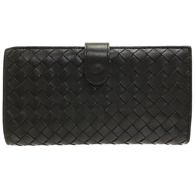 Bottega Veneta Dark Brown Purse Intrecciato Nappa Lambskin 121062 Leather Folded Wallet Bottega Veneta Dark Brown Purse Intrecciato Nappa Lambskin 121062 Leather Folded Wallet Image 1