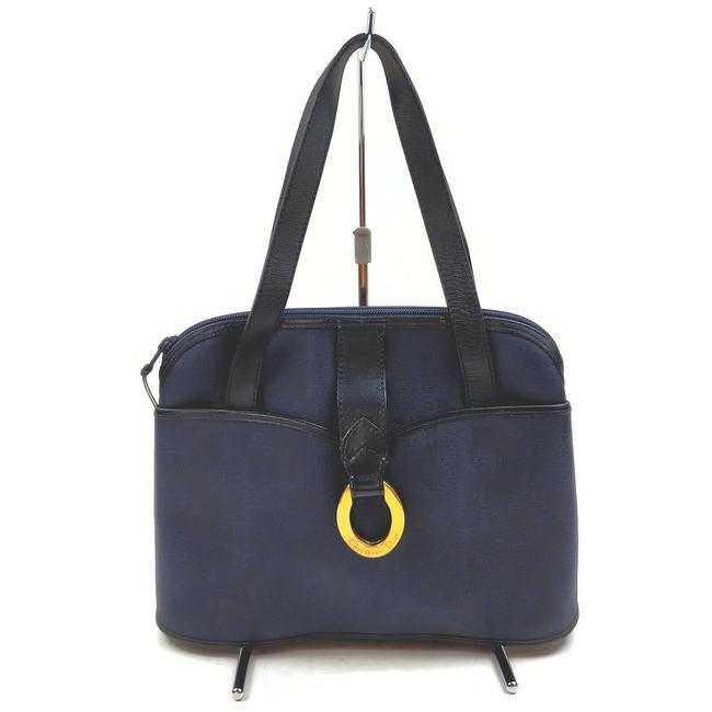 Item - Lady Tote 862524 Navy Blue Coated Canvas Shoulder Bag
