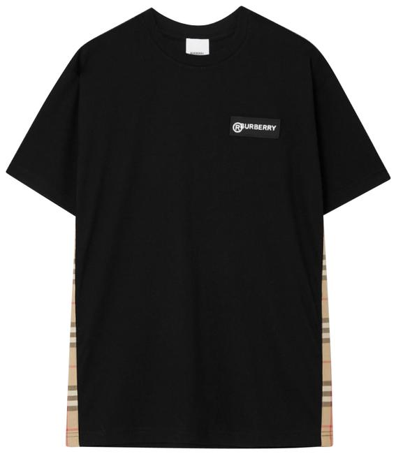 Item - Logo Check Trimmed Tee Shirt Size 12 (L)