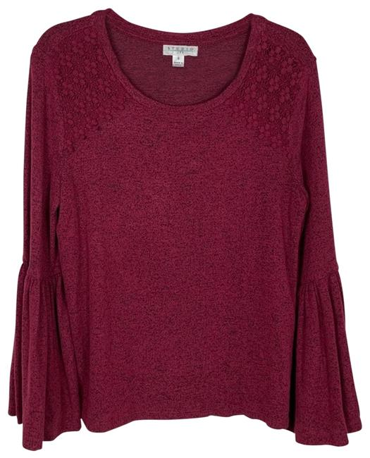 Item - Maroon Bell Sleeve Small Blouse Size 6 (S)