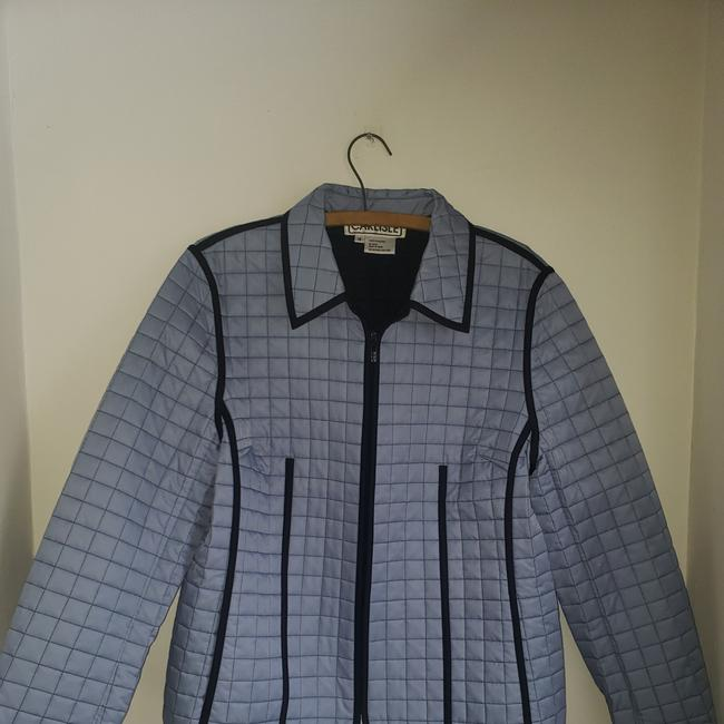 Item - Periwinkle Quilted Faux Leather Trim Jacket Size 14 (L)