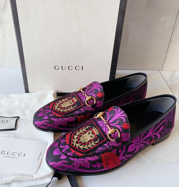 Item - Purple Black Horsebit Decorative Floral Jacquard Princetown Loafer 36 Pumps Size US 6 Regular (M, B)