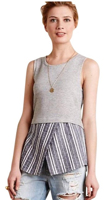 Item - Gray Knit Layered Small Tank Top/Cami Size 4 (S)