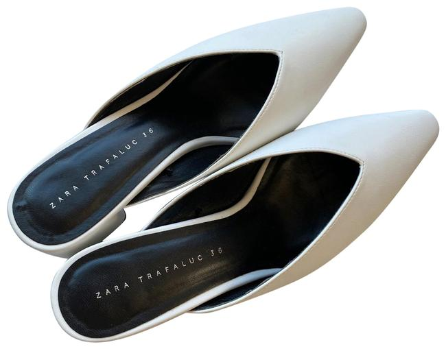 Item - White Very Chic Low-heeled Mules. Wedges Size US 6 Regular (M, B)