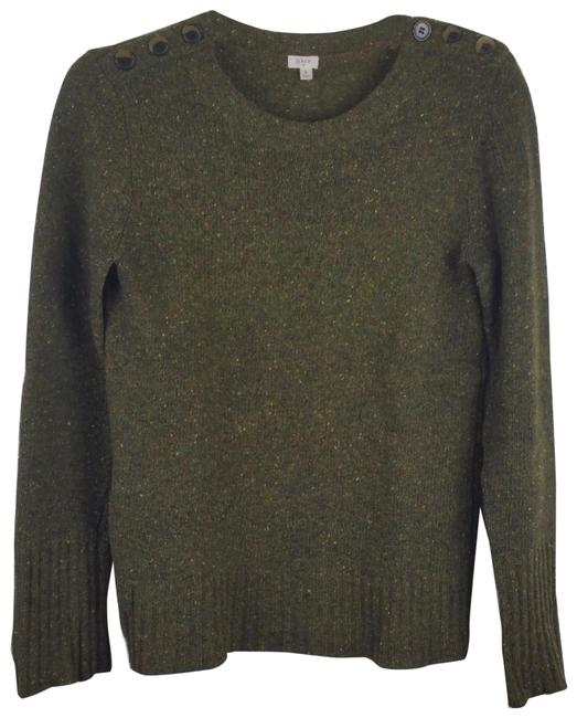Item - Tweed Ls Buttons Shoulder Olive Sweater