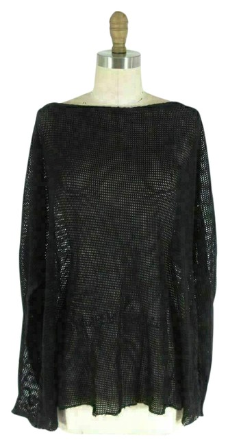 Item - Black Square Perforated Knit Top Cover-up/Sarong Size 2 (XS)