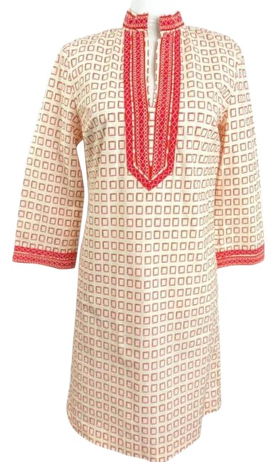 Tory Burch Coral Pink No Short Casual Dress Size 4 (S) Tory Burch Coral Pink No Short Casual Dress Size 4 (S) Image 1