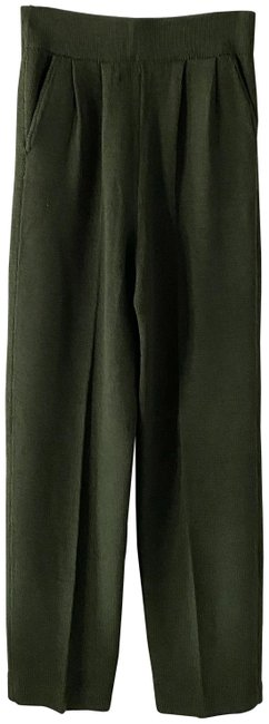 Item - Green Olive Knitted Elastic Waist Pants Size 2 (XS, 26)