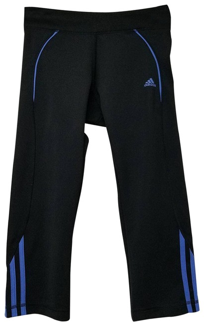 Item - Black 3-stripe Cropped Leggings Blue Small Activewear Bottoms Size 4 (S, 27)