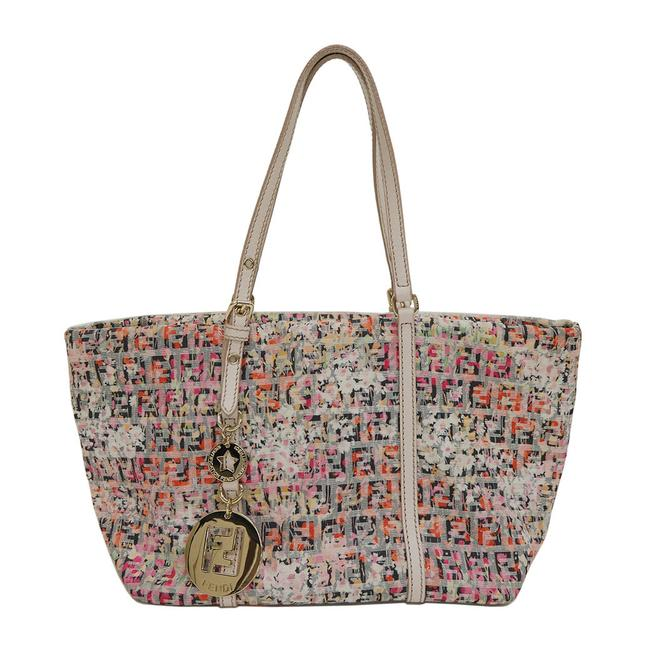 Item - Shopping Zucchino Flower 8bh214 Multi-color / Pink Canvas Tote