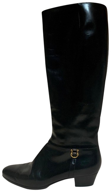 Item - Black For Saks Fifth Avenue Leather Riding Boots/Booties Size US 8 Narrow (Aa, N)
