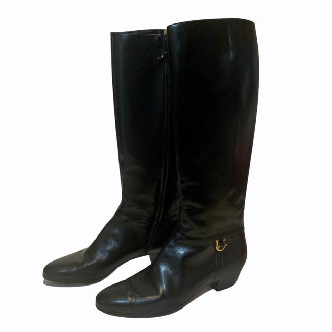 Salvatore Ferragamo Black For Saks Fifth Avenue Leather Riding Boots/Booties Size US 8 Narrow (Aa, N) Salvatore Ferragamo Black For Saks Fifth Avenue Leather Riding Boots/Booties Size US 8 Narrow (Aa, N) Image 12