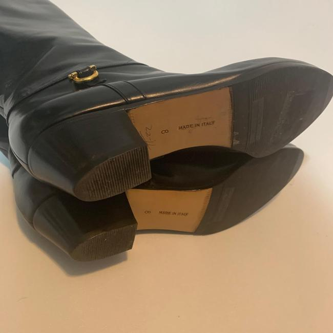 Salvatore Ferragamo Black For Saks Fifth Avenue Leather Riding Boots/Booties Size US 8 Narrow (Aa, N) Salvatore Ferragamo Black For Saks Fifth Avenue Leather Riding Boots/Booties Size US 8 Narrow (Aa, N) Image 3