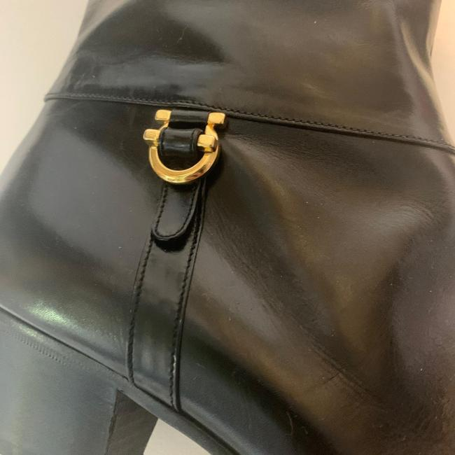 Salvatore Ferragamo Black For Saks Fifth Avenue Leather Riding Boots/Booties Size US 8 Narrow (Aa, N) Salvatore Ferragamo Black For Saks Fifth Avenue Leather Riding Boots/Booties Size US 8 Narrow (Aa, N) Image 6