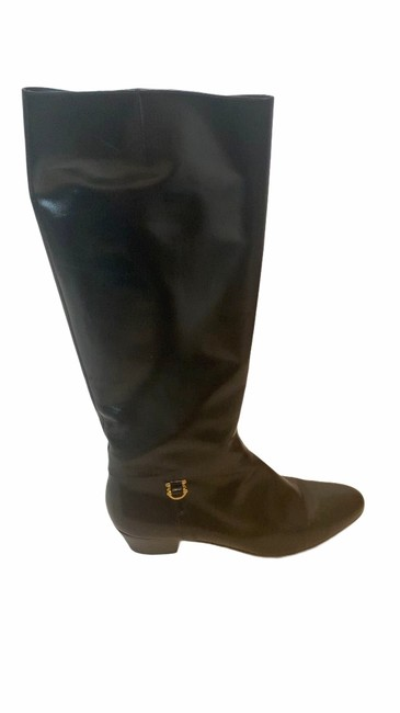 Salvatore Ferragamo Black For Saks Fifth Avenue Leather Riding Boots/Booties Size US 8 Narrow (Aa, N) Salvatore Ferragamo Black For Saks Fifth Avenue Leather Riding Boots/Booties Size US 8 Narrow (Aa, N) Image 10