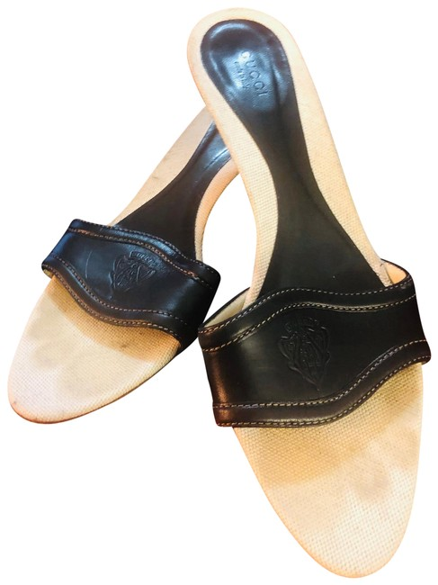 Item - Black Woman's Heel Mules/Slides Size US 10.5 Wide (C, D)