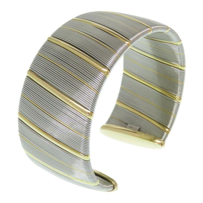Item - Yellow Antique Bangle K18 Stainless Gold Silver Bracelet