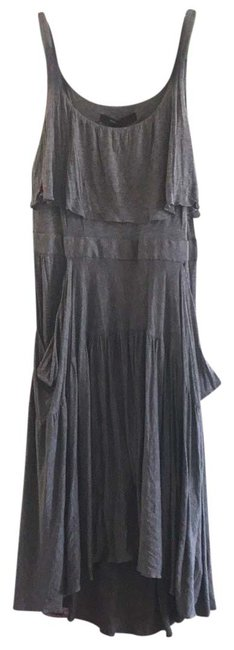 Item - Heather Gray Astrid Mid-length Short Casual Dress Size 14 (L)