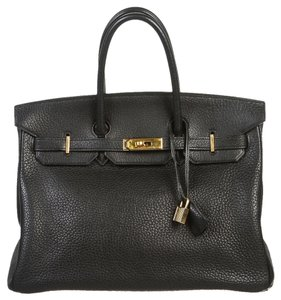 Hermès Herems Birkin Noir Satchel in Black